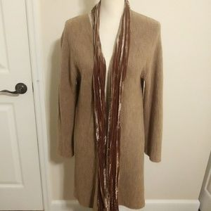 J Jill merino wool & velvet duster Large
